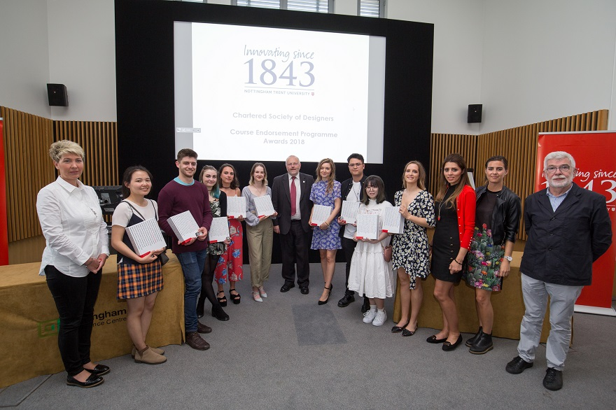 Chartered Society of Designers commended students for excellence in Design at the 2018 Art and Design Summer Show