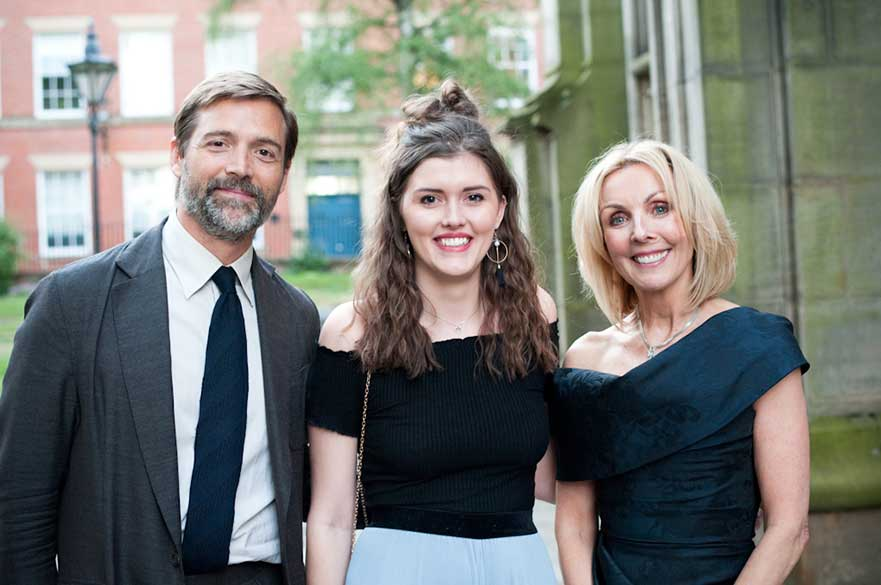 Lead judge Patrick Grant, student Aoife Thomas and Anne Davies. Courtesy Rachael Connerton Photography.
