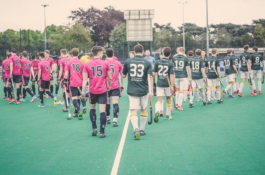 NTU Men's Hockey team walk out on to the pitch for Varsity 2018