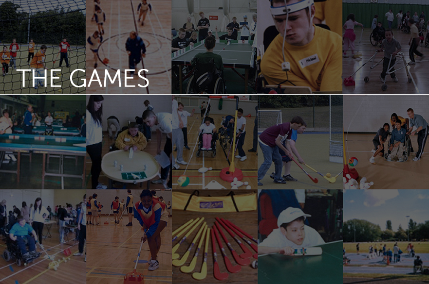 montage of adapted sports images