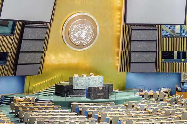 United Nations conference room