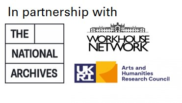 The National Archives, AHRC and Workhouse Network logos