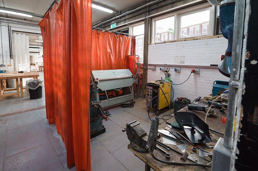 Welding bay in the Metal Workshop