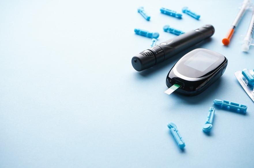 Blood sugar stock image