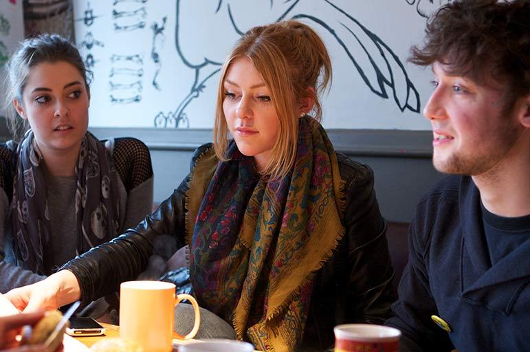 Students having coffee
