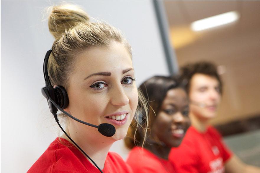 Telephone campaign student ambassadors