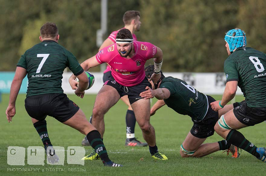 Mike Ozdilli attacking the defence vs University of Exeter