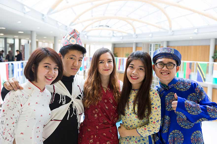 International students dressed up for Global Week