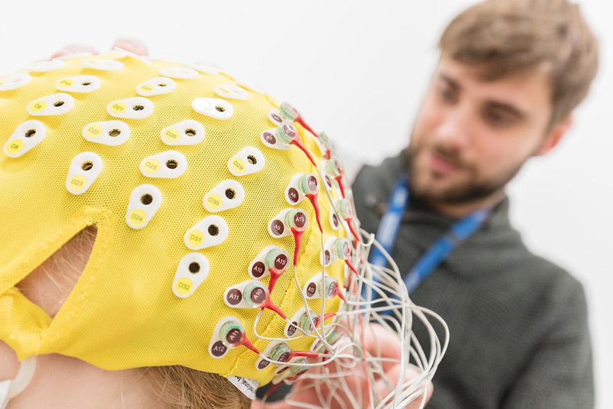 subject using the EEG lab