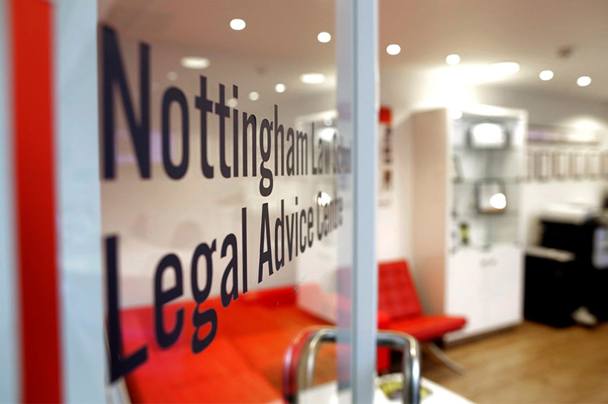 Open door to the Legal Advice Centre