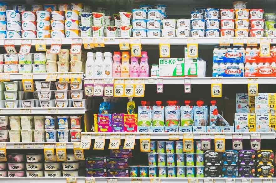 Photo of supermarket shelves