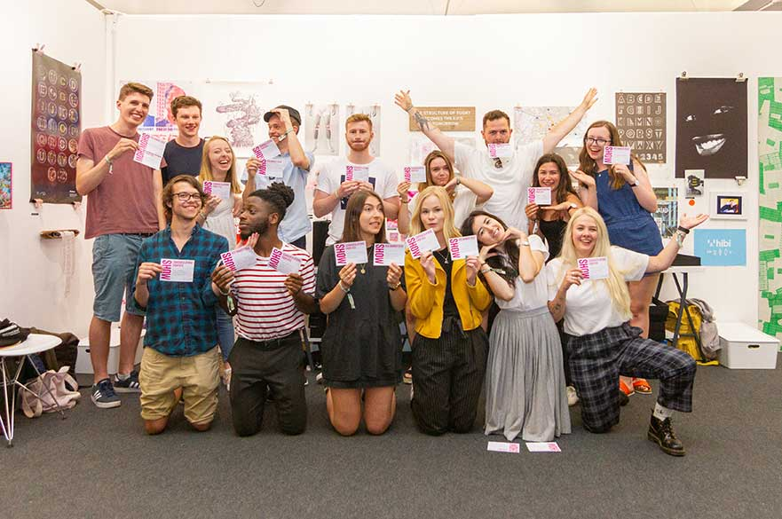 Our BA (Hons) Graphic Design students at D&AD New Blood