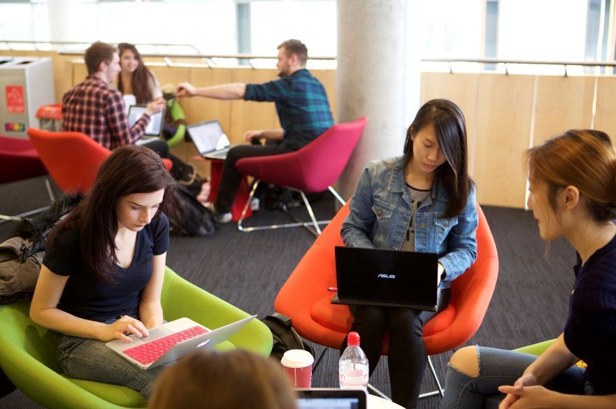 Students in student union