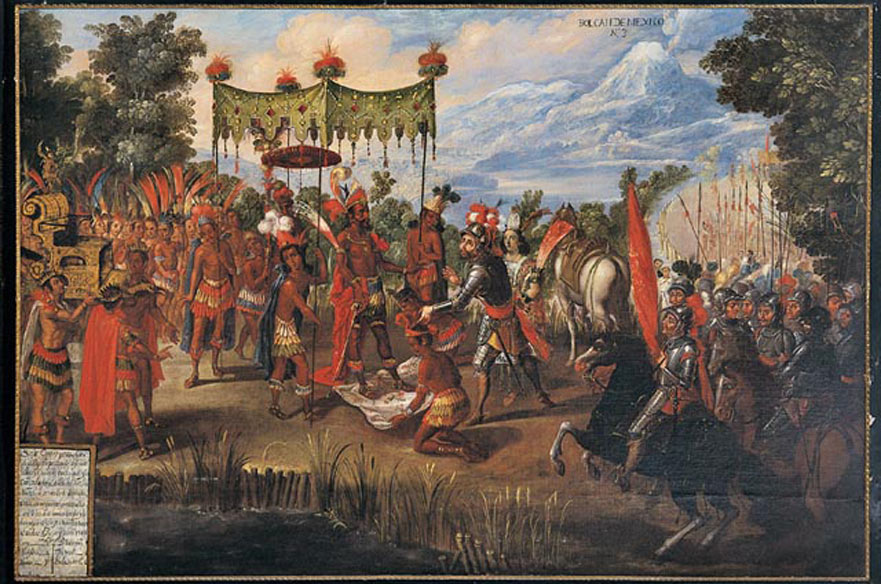 The Meeting of Cortes and Montezuma