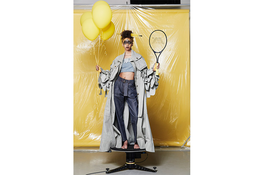 Isabel Hambly- Graduate Fashion Week, ISKO denim outfit