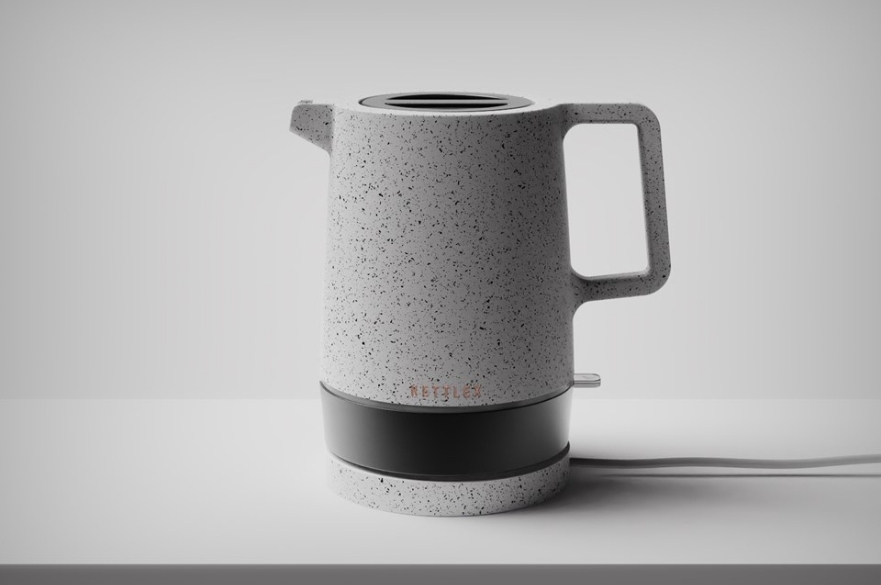 image of kettle rendered in keyshot software
