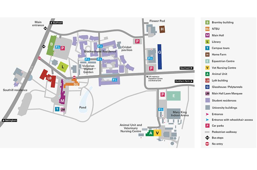 Brackenhurst Campus open house map