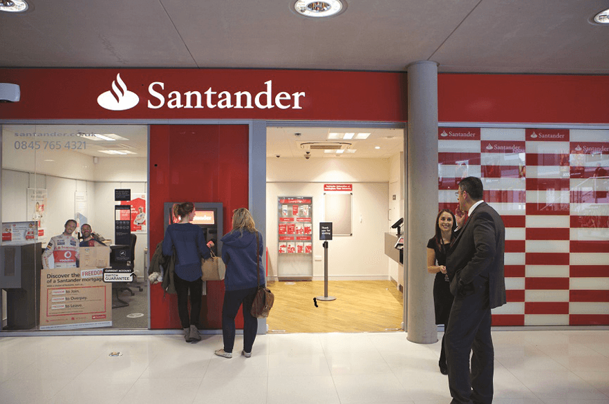 Santander branch in the Newton building