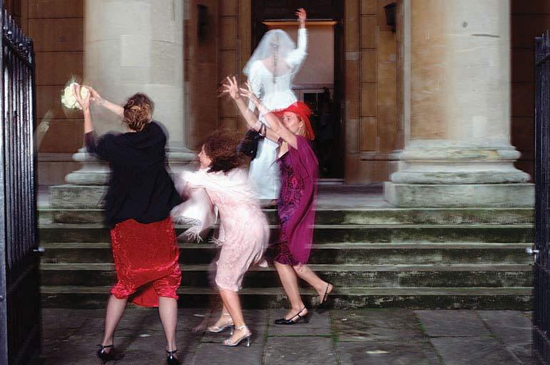 People at wedding