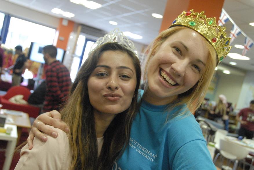 Two girls having fun at Global Summer School