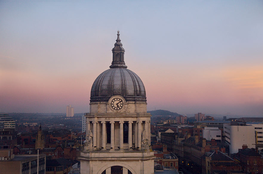 Nottingham skyline