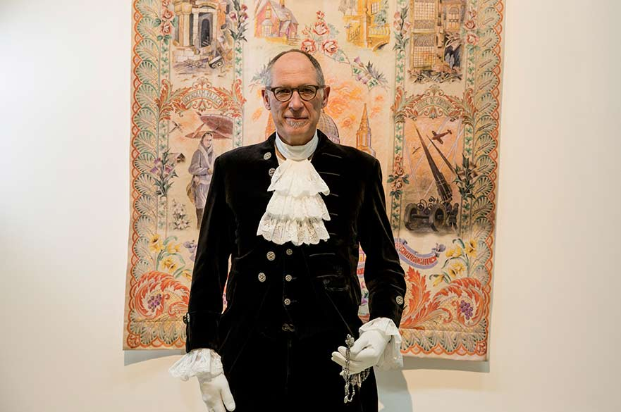 Nick Ebbs High Sheriff of Nottinghamshire in his ceremonial wear