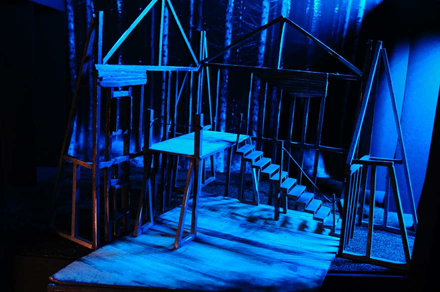 Model by Chloe Fundak of speculative set design for  'The Crucible' by Arthur Miller, 2018