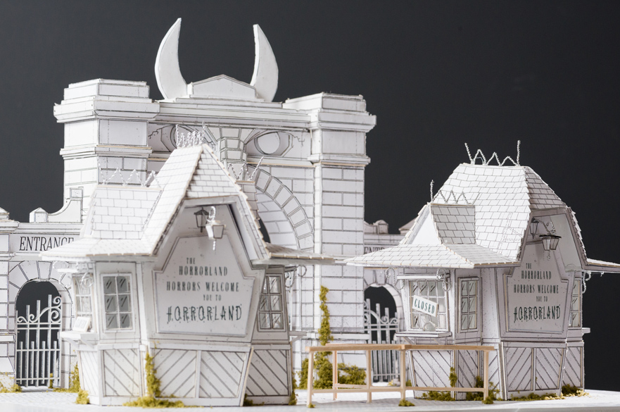 'Goosebumps - one day in Horrorland' white model