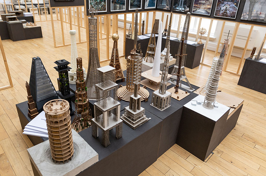 A selection of MArch Architecture student work exhibited at the Nottingham Trent University Degree Show.