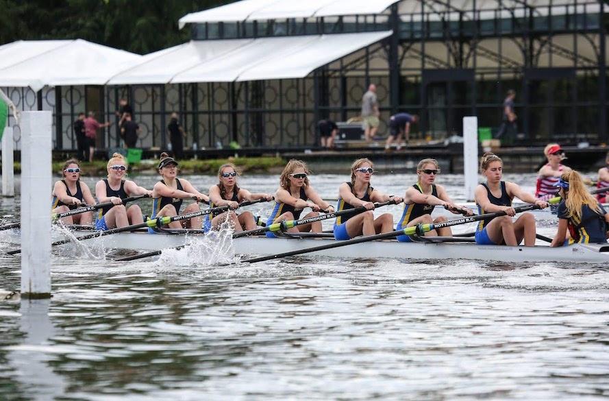 female ntu rowing in boat