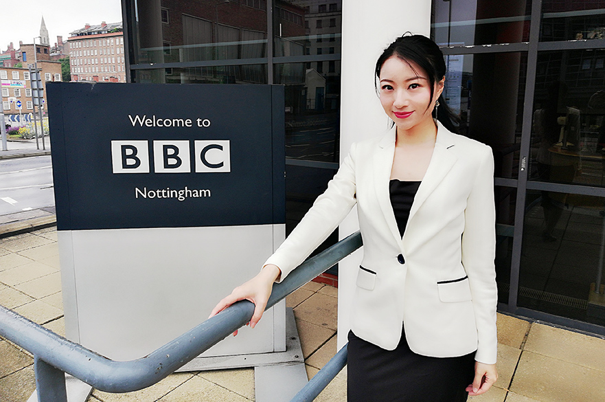 Feixue at BBC Nottingham studios