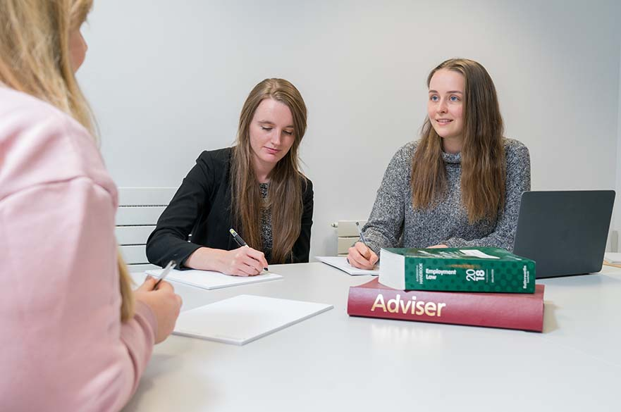 Students providing legal advice at the Legal Advice Centre