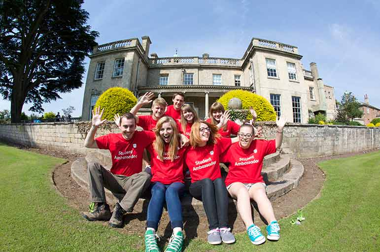 Student ambassadors at an open day at NTU's Brackenhurst campus