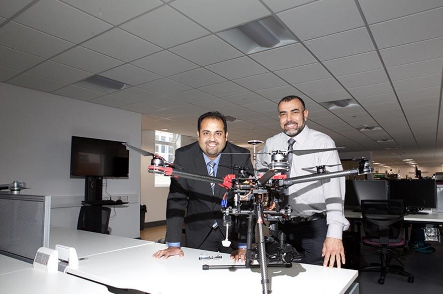 Prof Amin Al-Habaibeh and Bubaker Shakmak