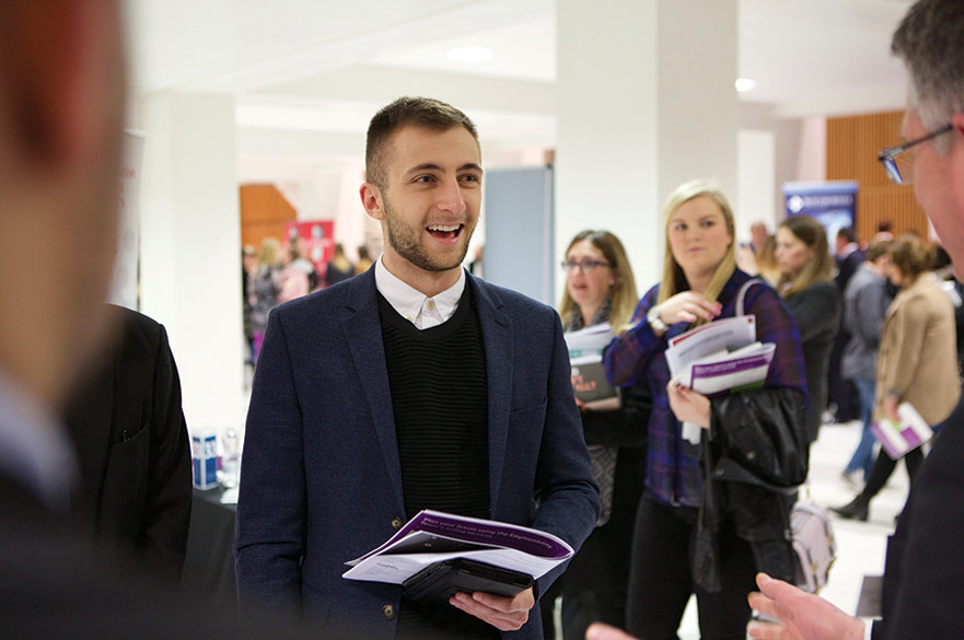 Student at an event