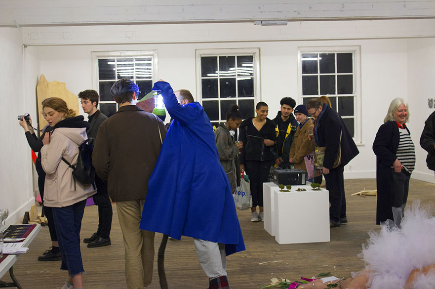 Exhibition launch event. Photo courtesy Andy Wallis and Surface Gallery