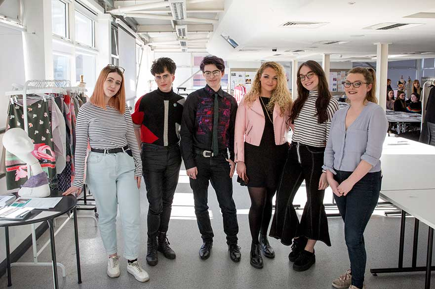 Students selected for work placements at Next