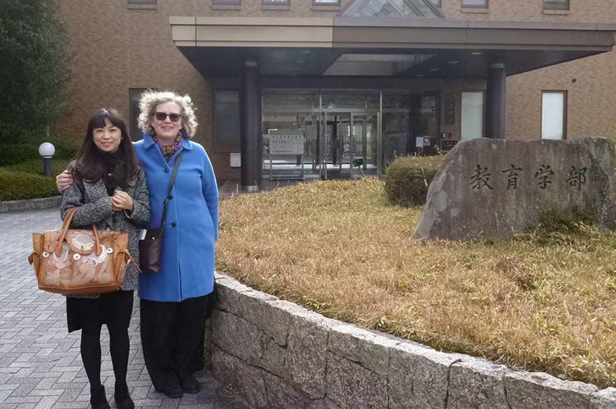 Dr Yuka Nakai and Sue Dymoke
