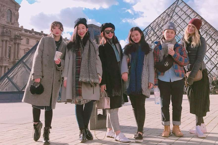 MA FMMC group shot at The Louvre