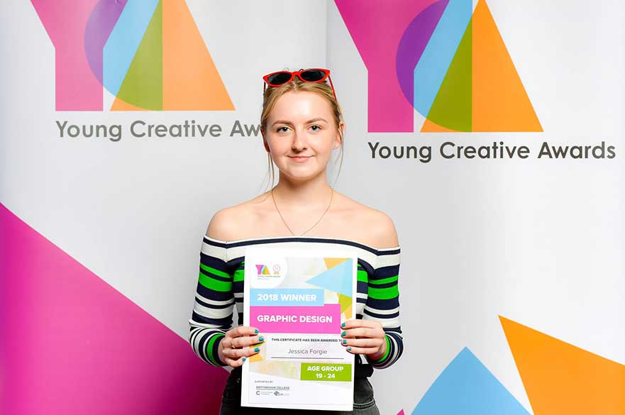 Jessica Forgie at the Young Creative Awards