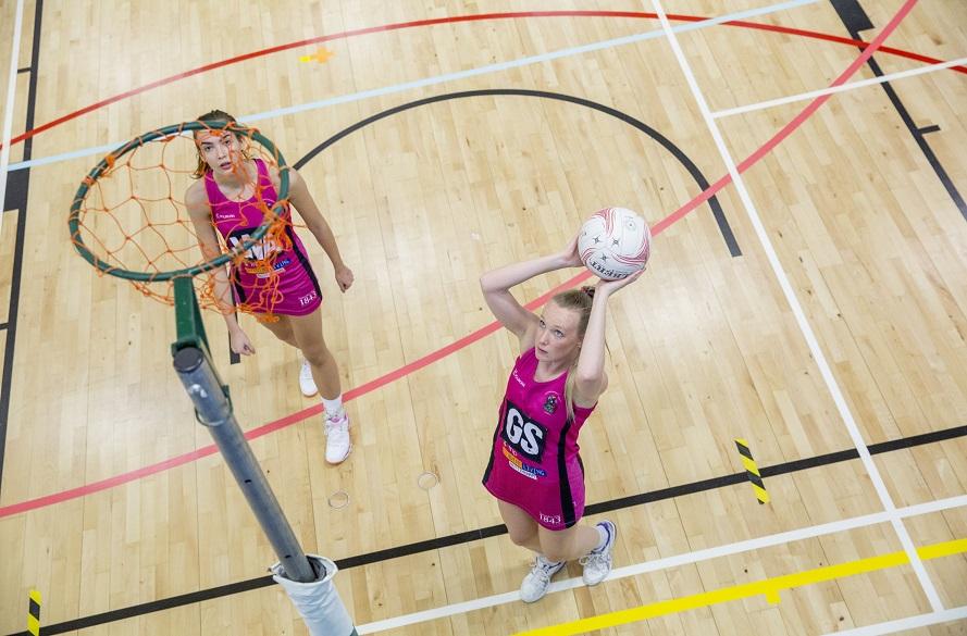 NTU Women's Netball player takes a shot