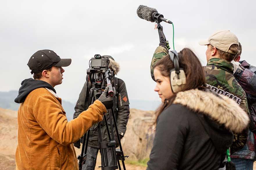 BA (Hons) Filmmaking students