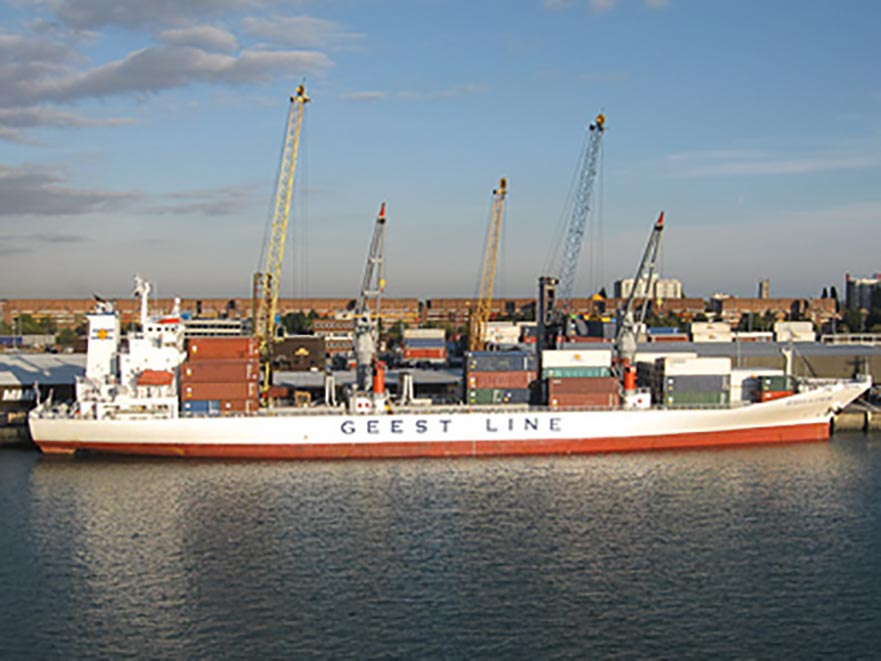 One of the fleet of Geest shipping liners
