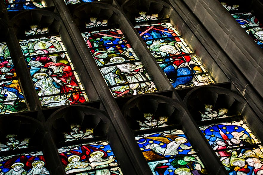 Stained glass images - we visit places of worship to experience the artwork of faith