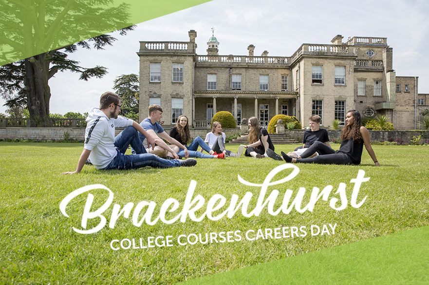 Careers day banner with image of students