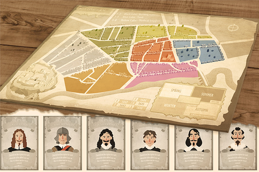 Nottingham Castle Board Game