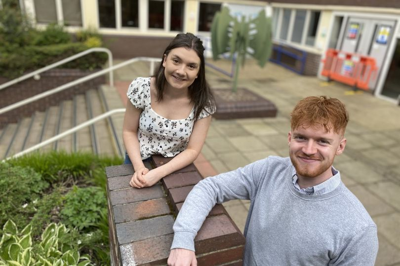 Katie Green and Jack O'Connor who will be taking part in the project