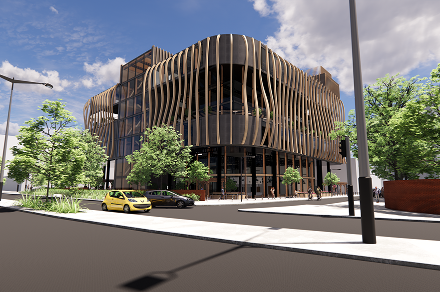Oxford Street Library, Swansea by BSc (Hons) Architectural Technology student, Gareth Thomas.