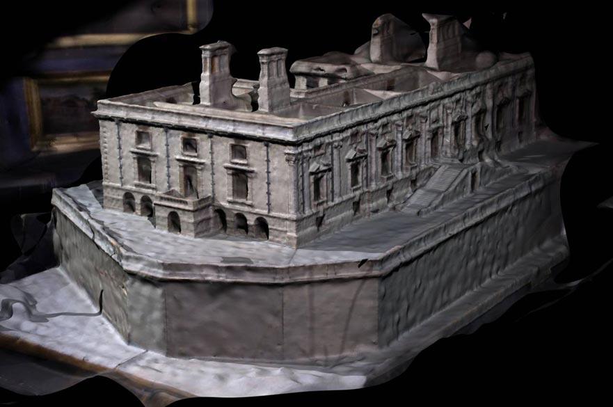 Digital model of Nottingham Castle