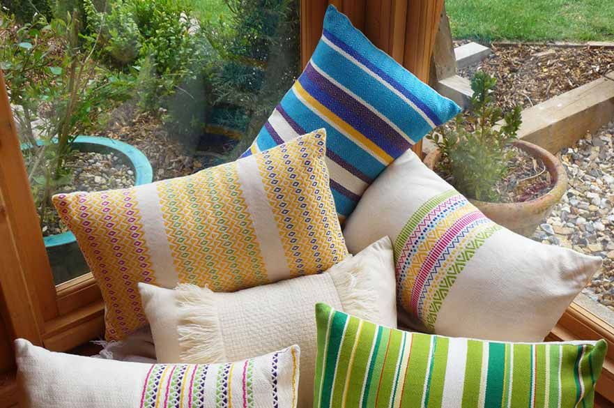 Cushions designed by Hannah Dore